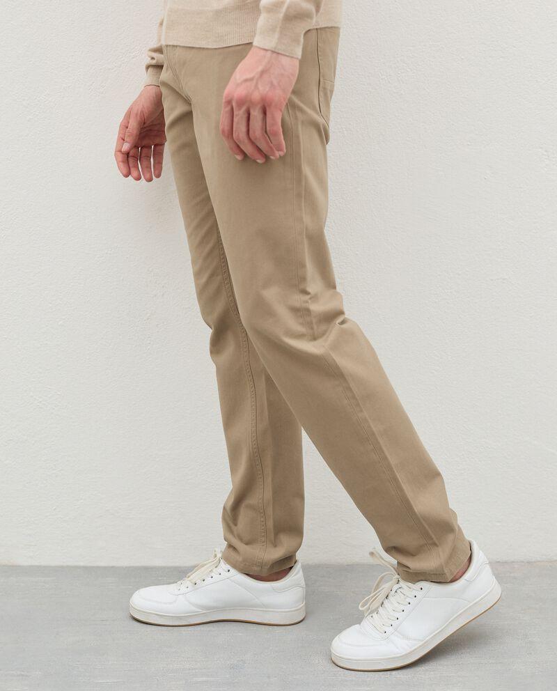 Pantaloni slim cinque tasche di puro cotone uomodouble bordered 2
