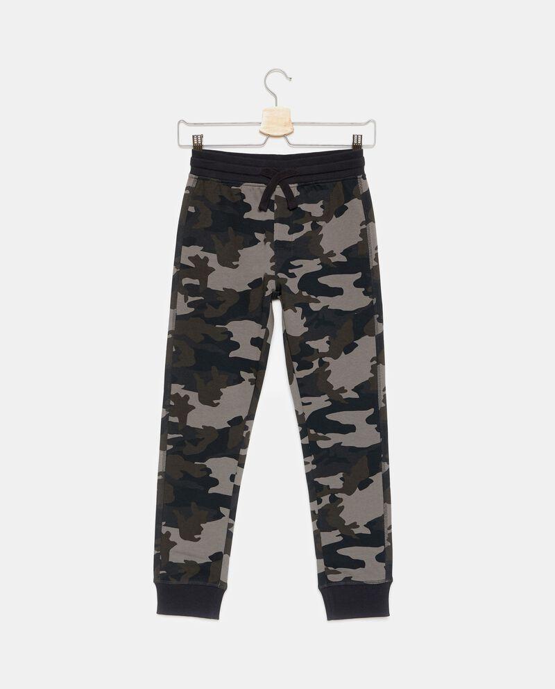 Pantaloni puro cotone camouflage