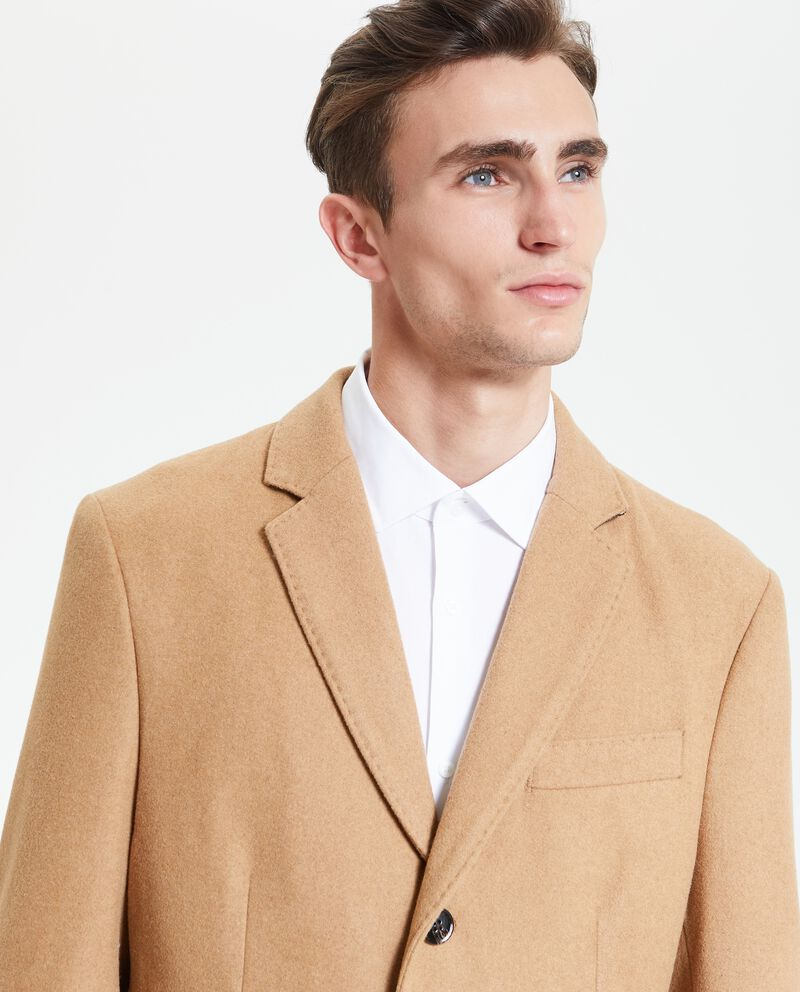 Cappotto tinta unita uomo