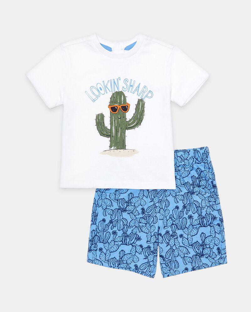 Jogging set in cotone organico di jersey neonato