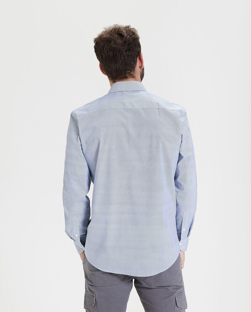Camicia con micro fantasia e maniche lunghe uomo