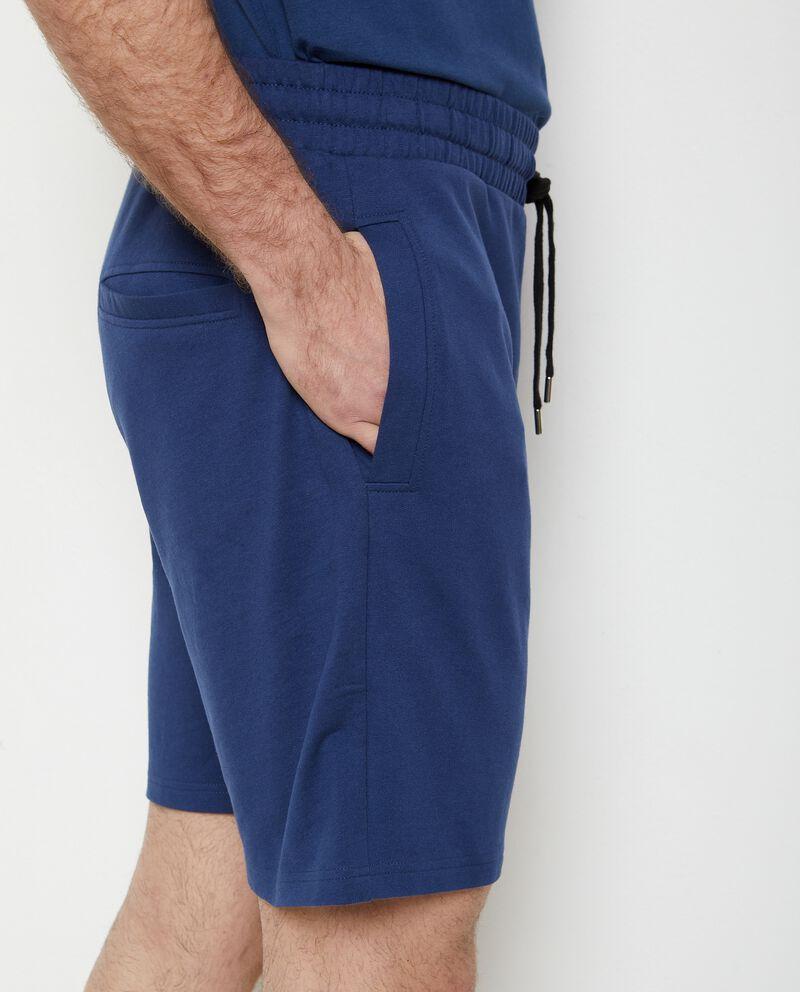 Pantaloncini joggers in puro cotone uomo single tile 2