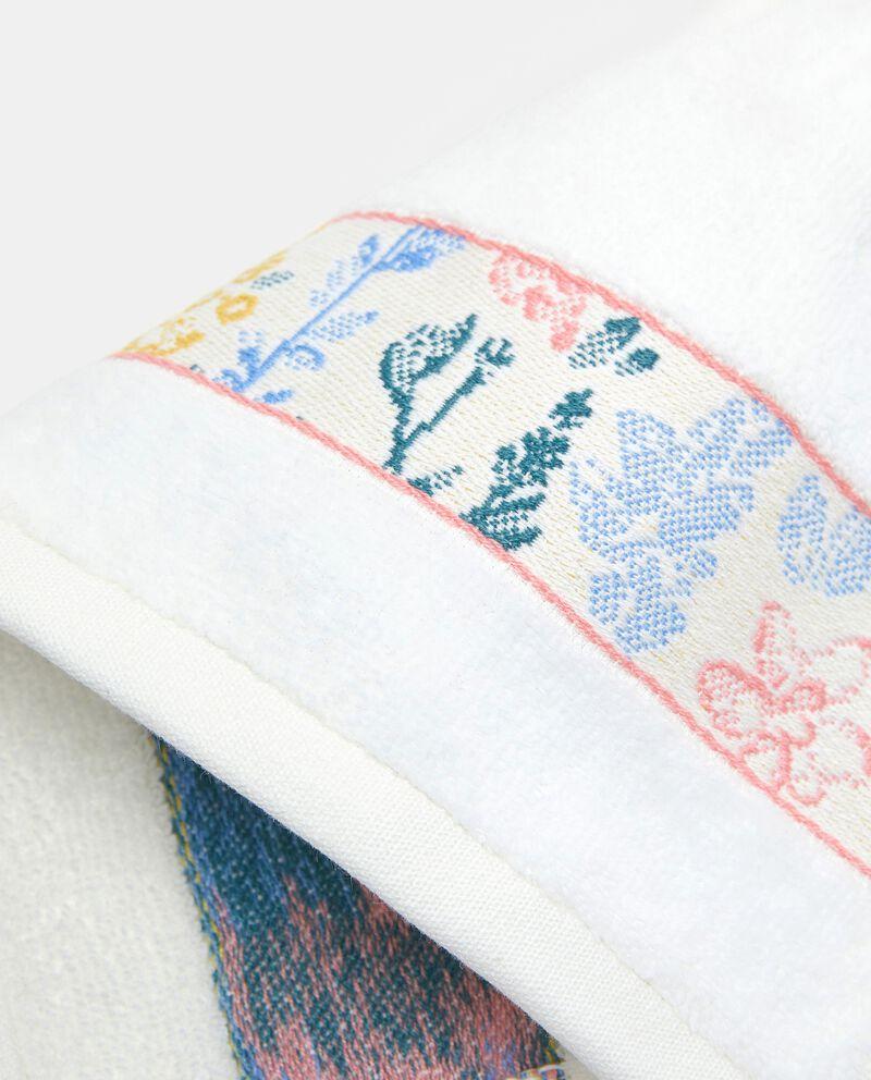 Asciugamano ospite con bordo floreale in puro cotonedouble bordered 1