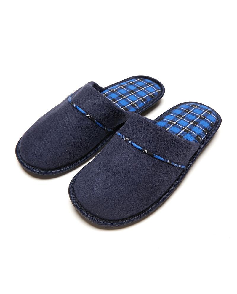 Pantofole con inserto tartan
