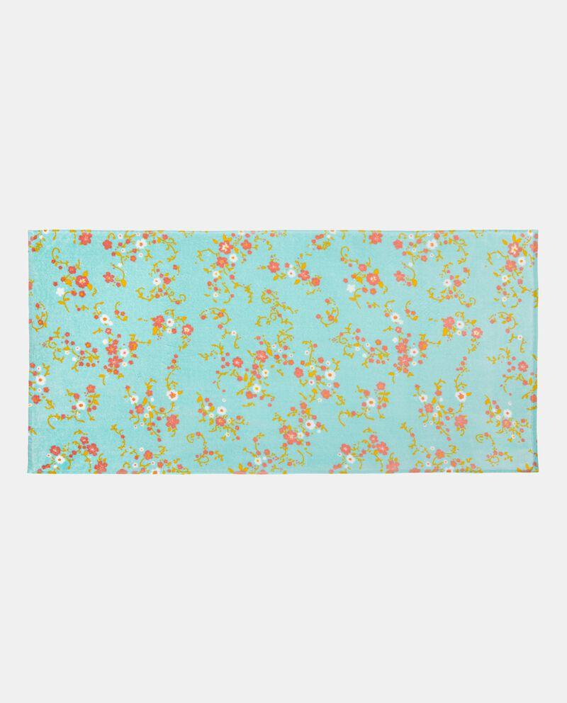 Telo in puro cotone con stampa floreale single tile 1