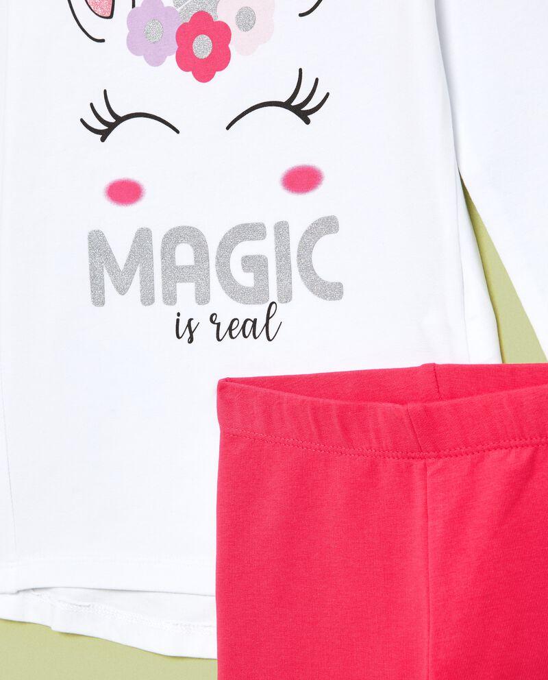 Set jogging maglia unicorno e leggings