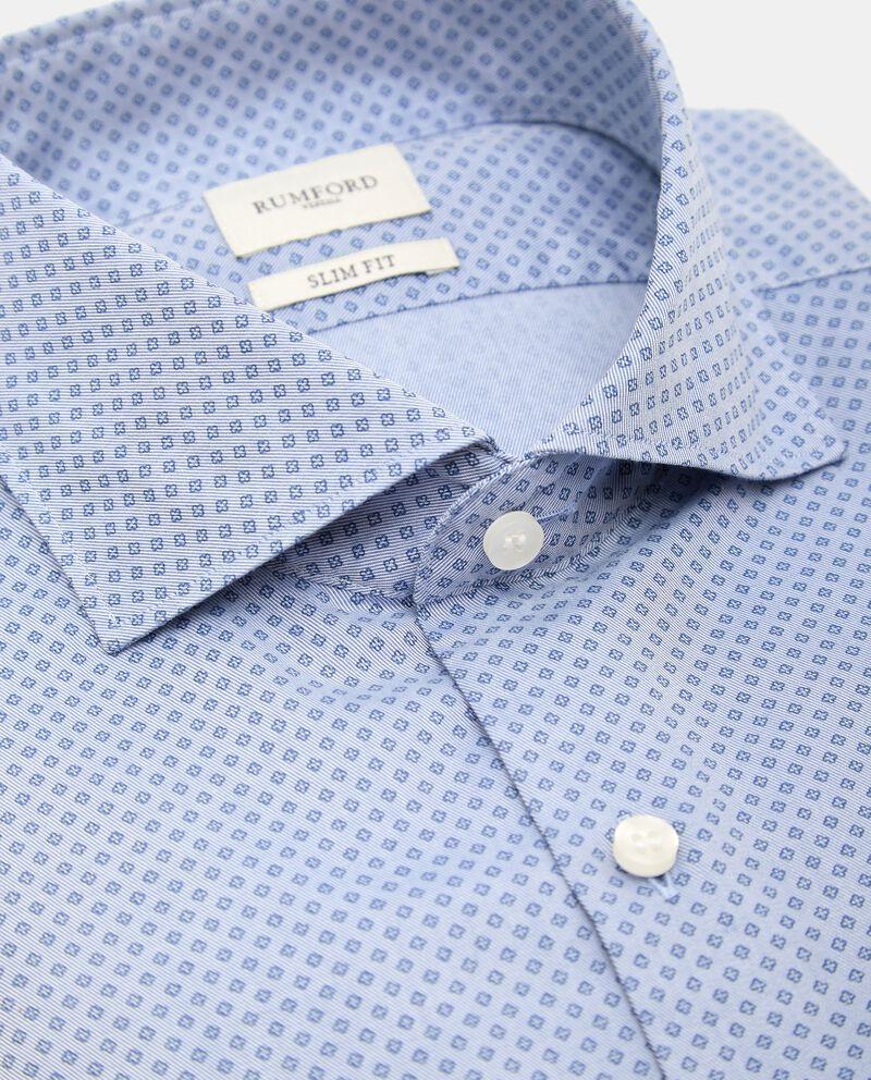 Camicia di puro cotone con micro fantasia uomo single tile 1