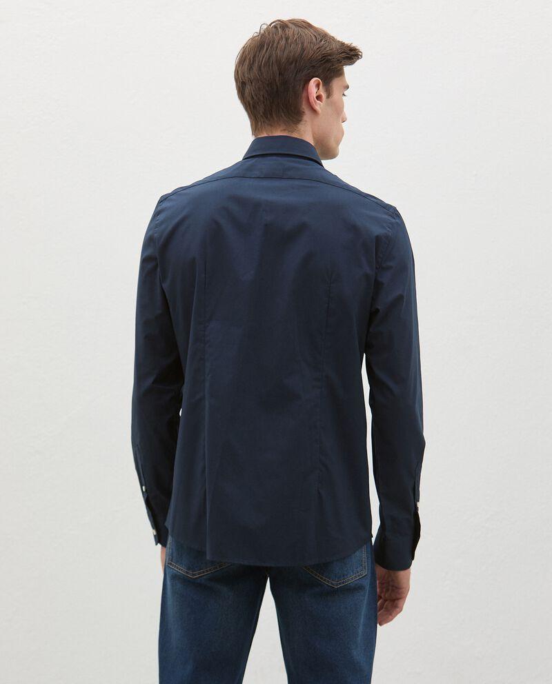 Camicia tinta unita in cotone uomo single tile 1