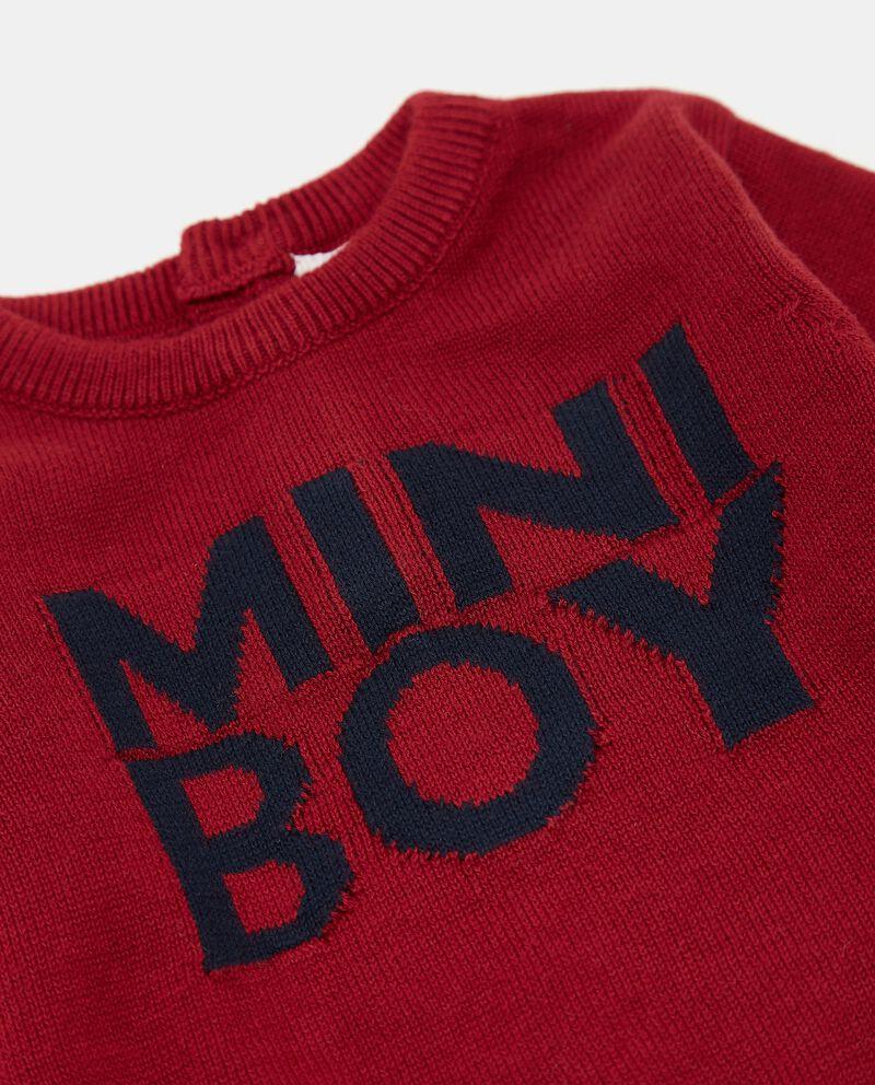 Maglione tricot in puro cotone con ricami neonatodouble bordered 1