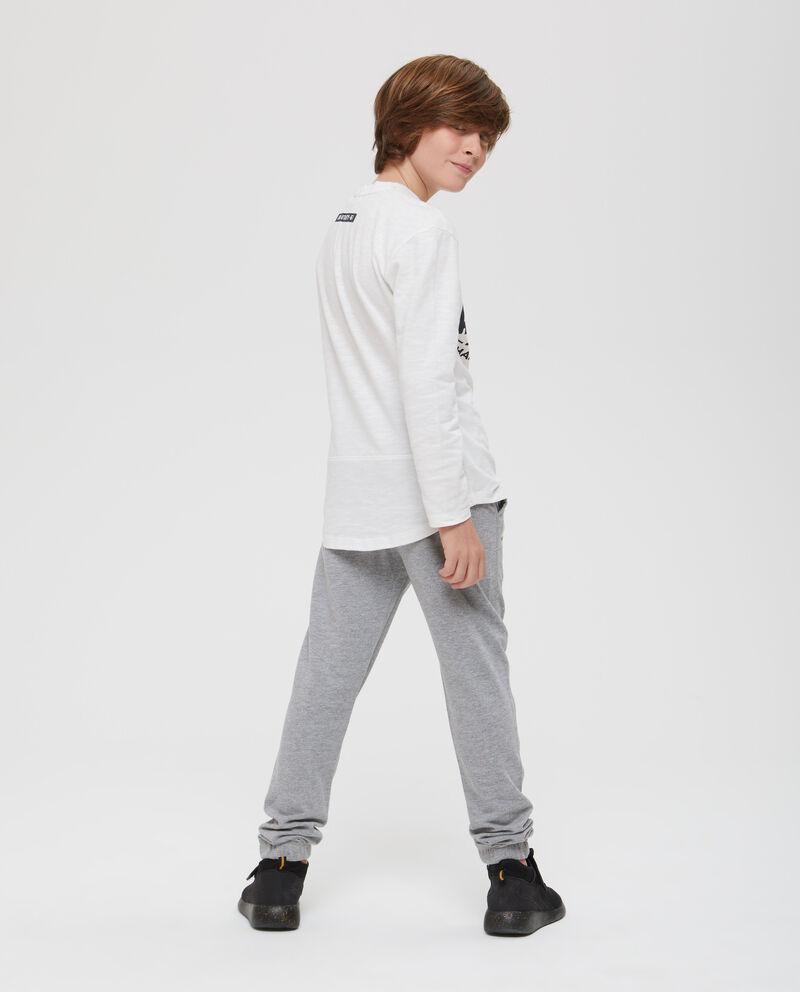 Pantaloni con coulisse a contrasto