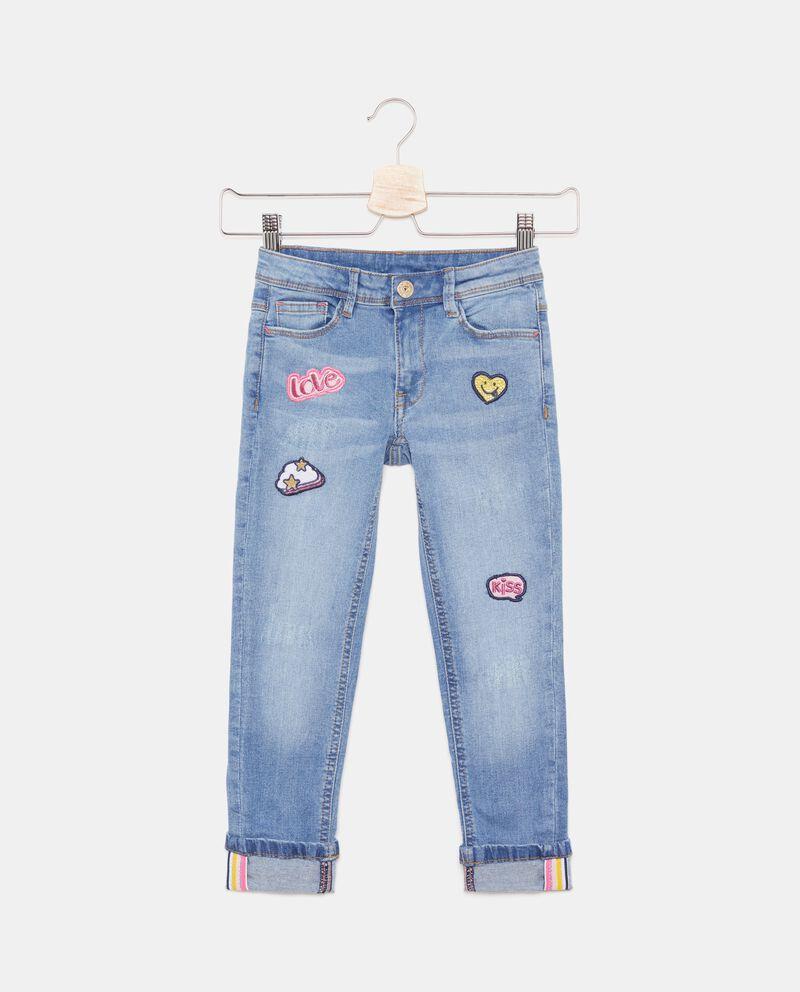 Jeans con patch applicati bambina cover