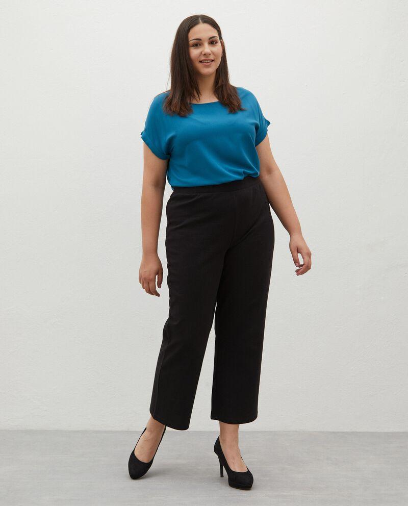 Pantaloni in twill di cotone Curvy donna cover