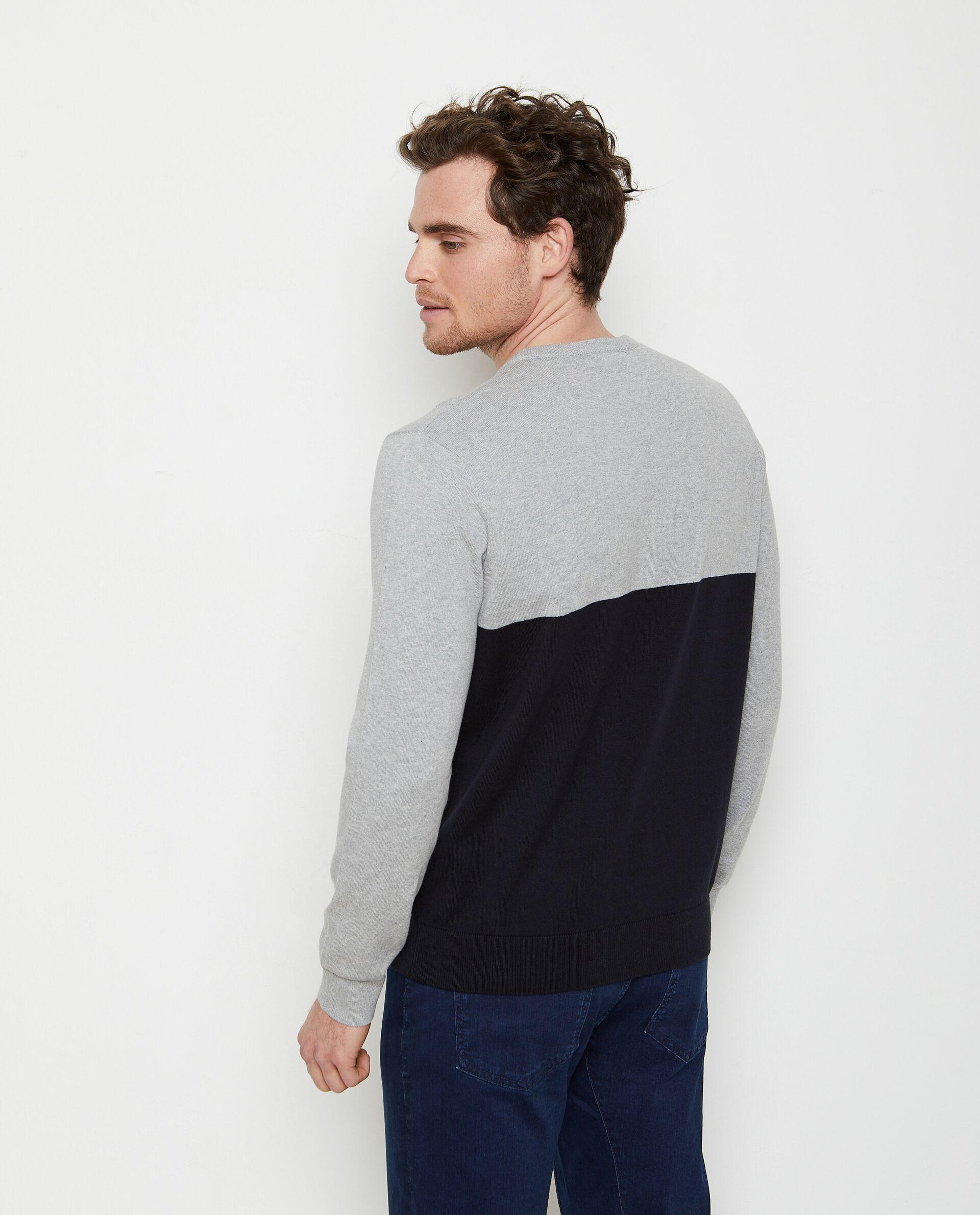 Pullover in puro cotone a righe uomo