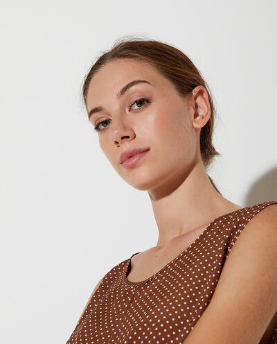 Blusa senza maniche a pois donna