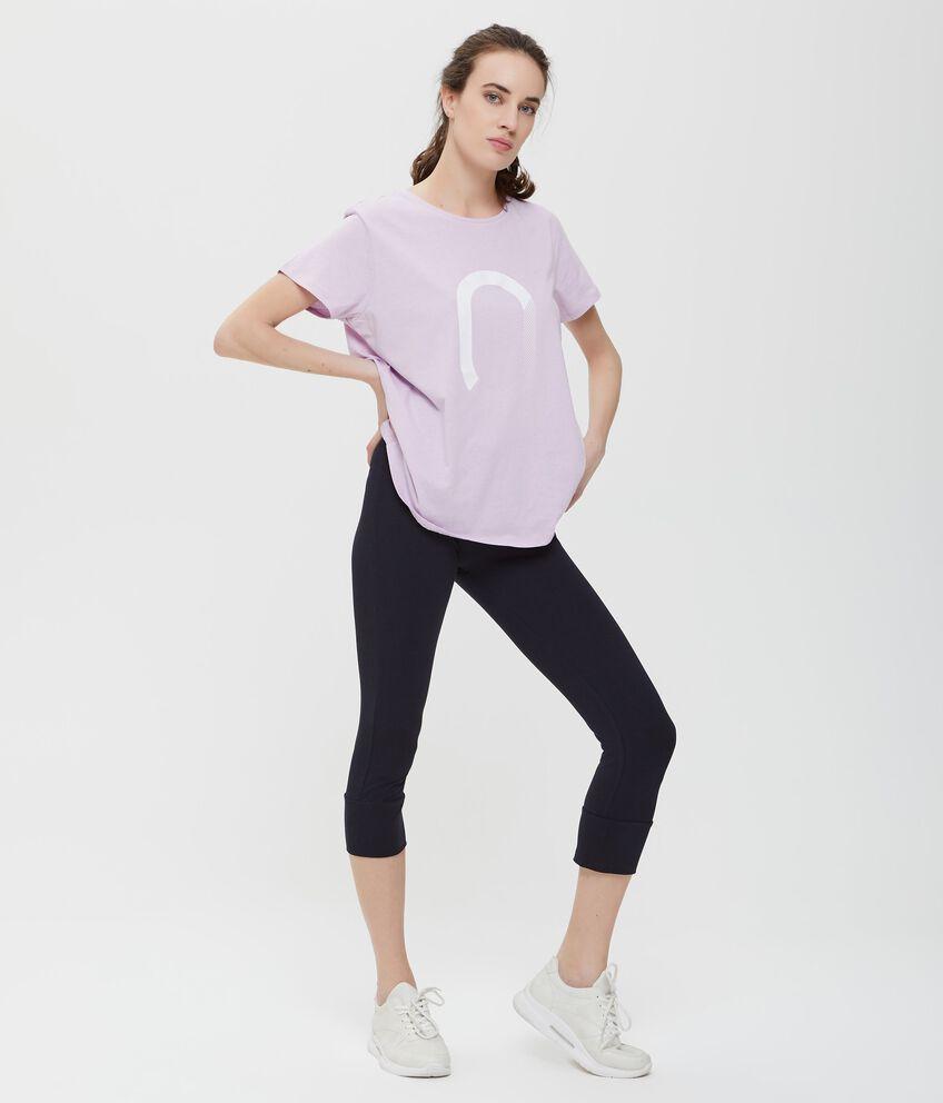 Leggings blu tinta unita Fitness donna