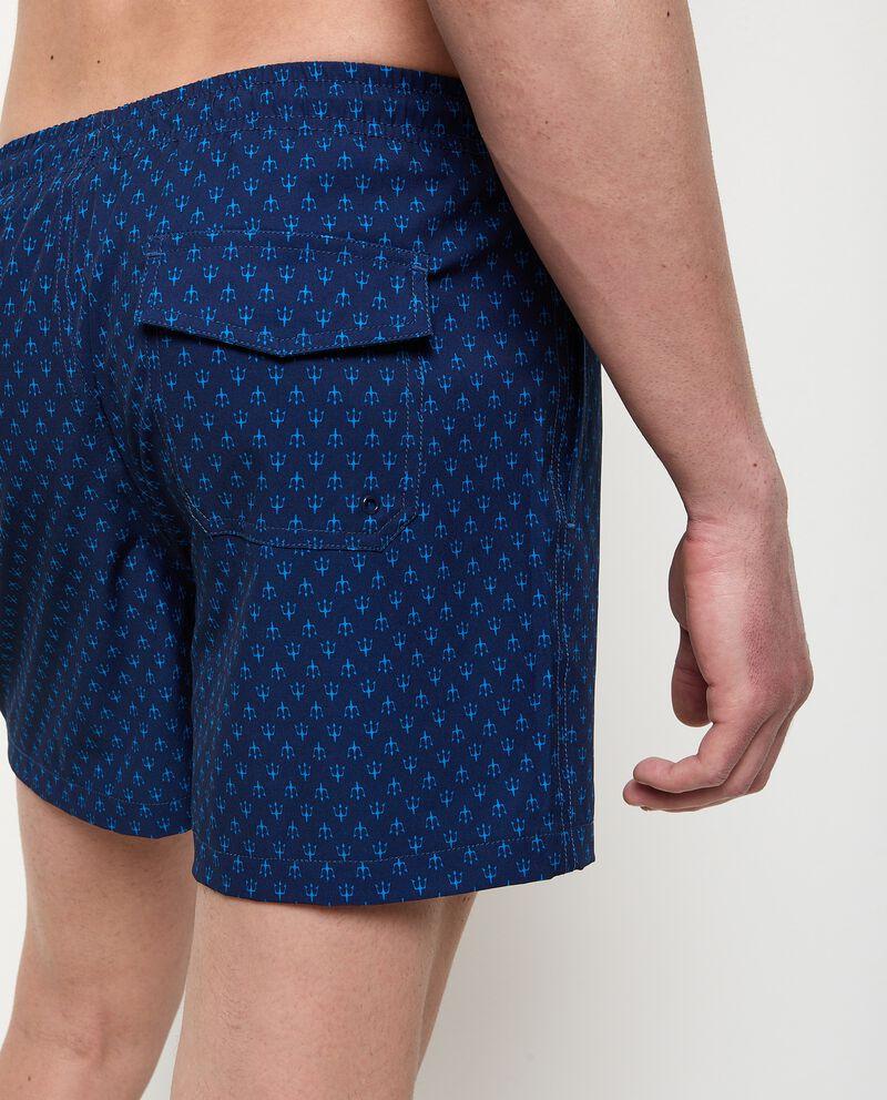 Costume shorts con stampa e tasche uomo