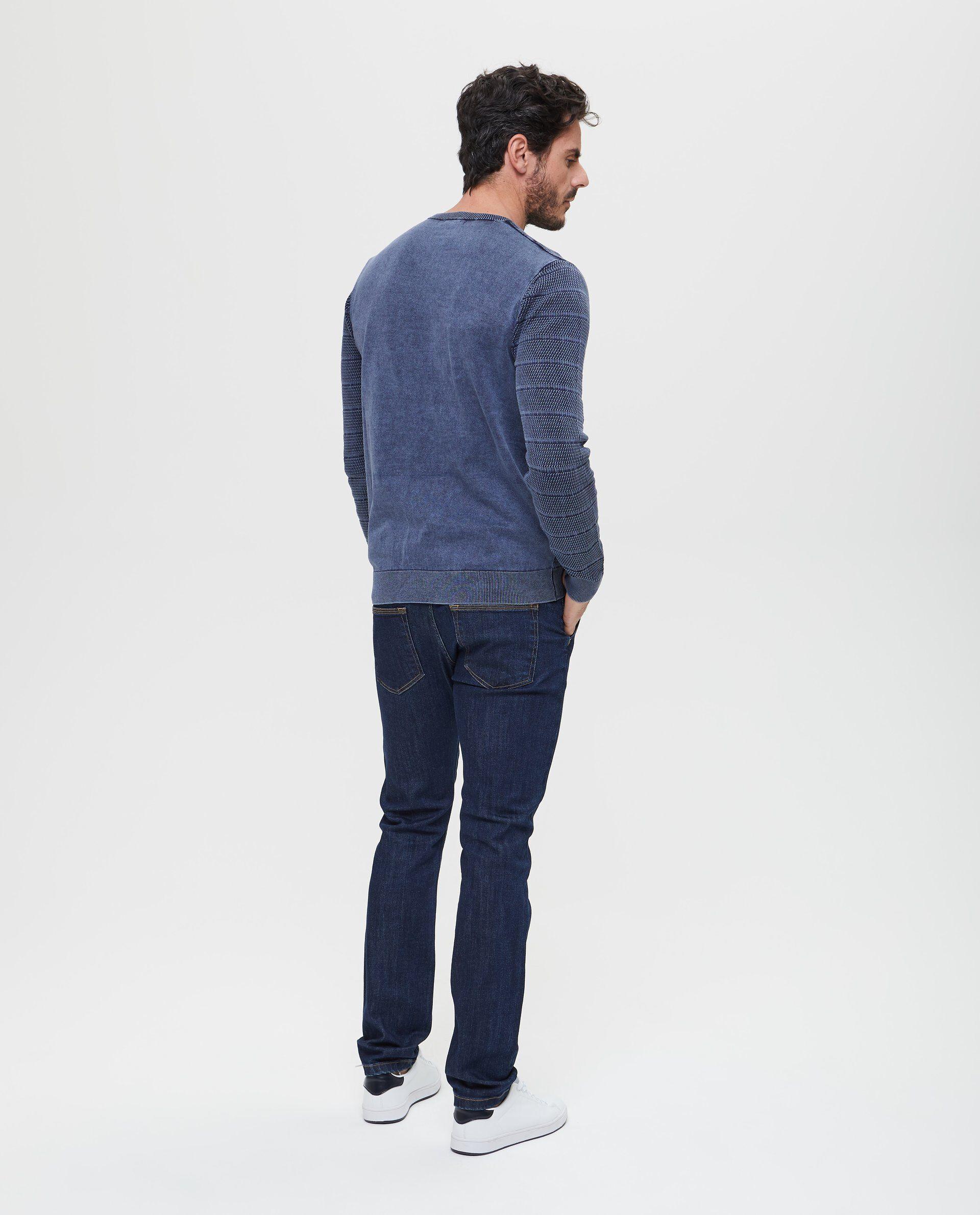 Pullover lavorato tricot girocollo