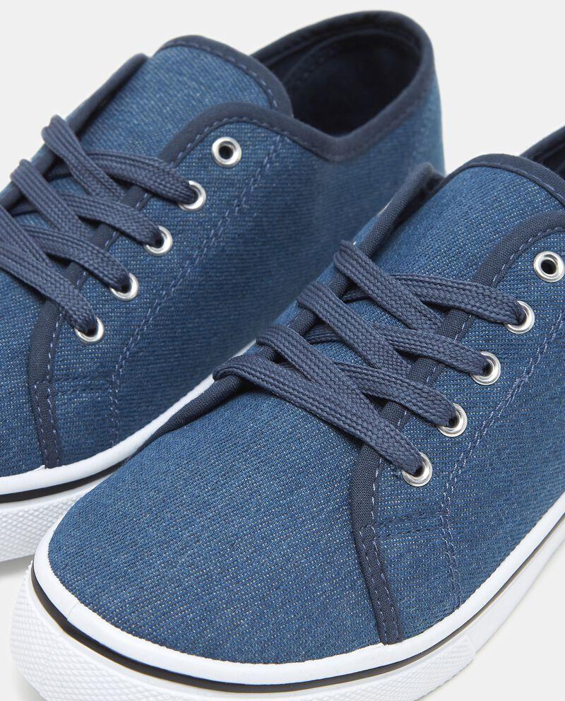 Sneakers blu effetto denim donna