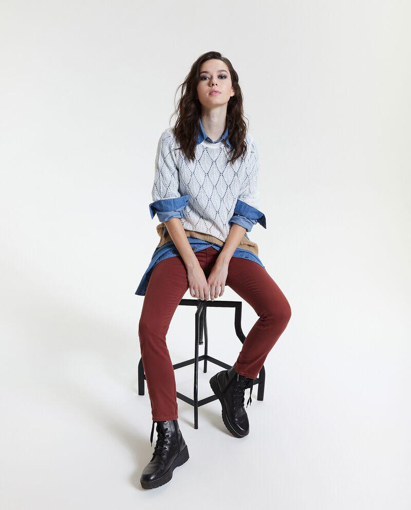 Pantaloni classici a cinque tasche donna