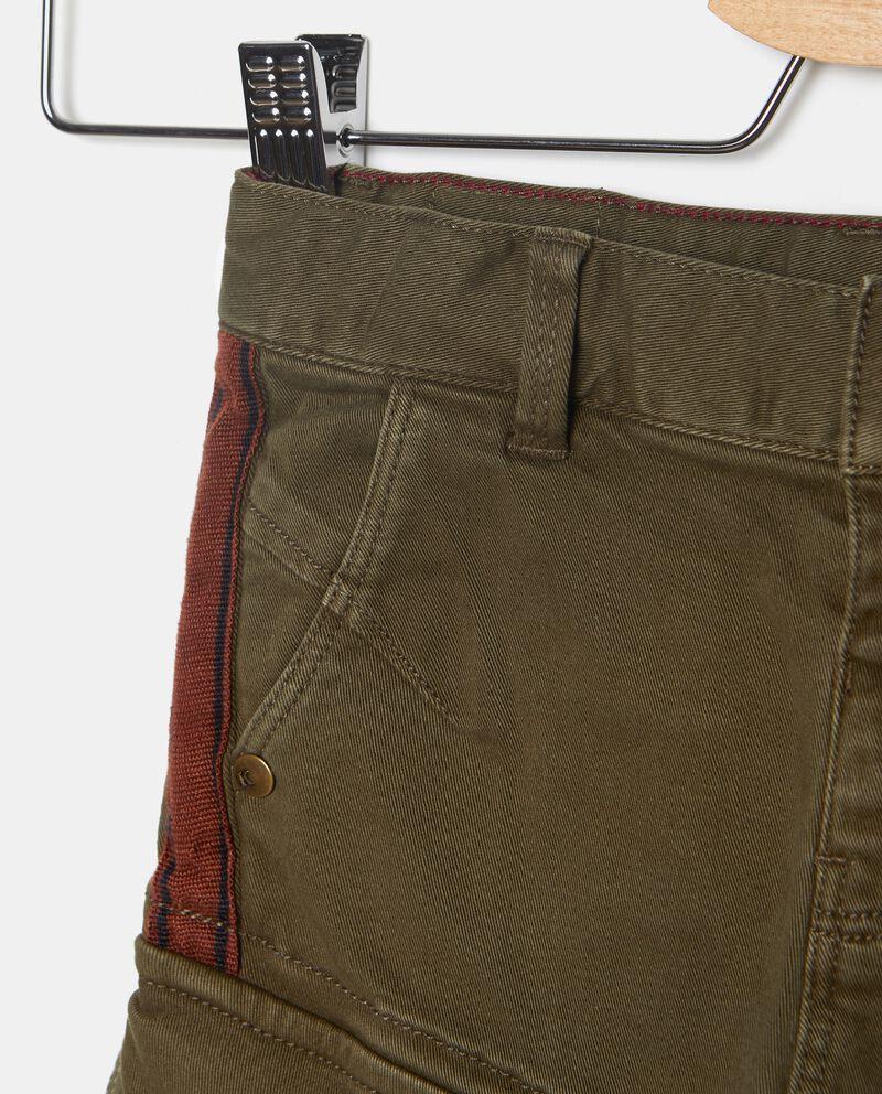 Pantaloni cargo con bande laterali neonato