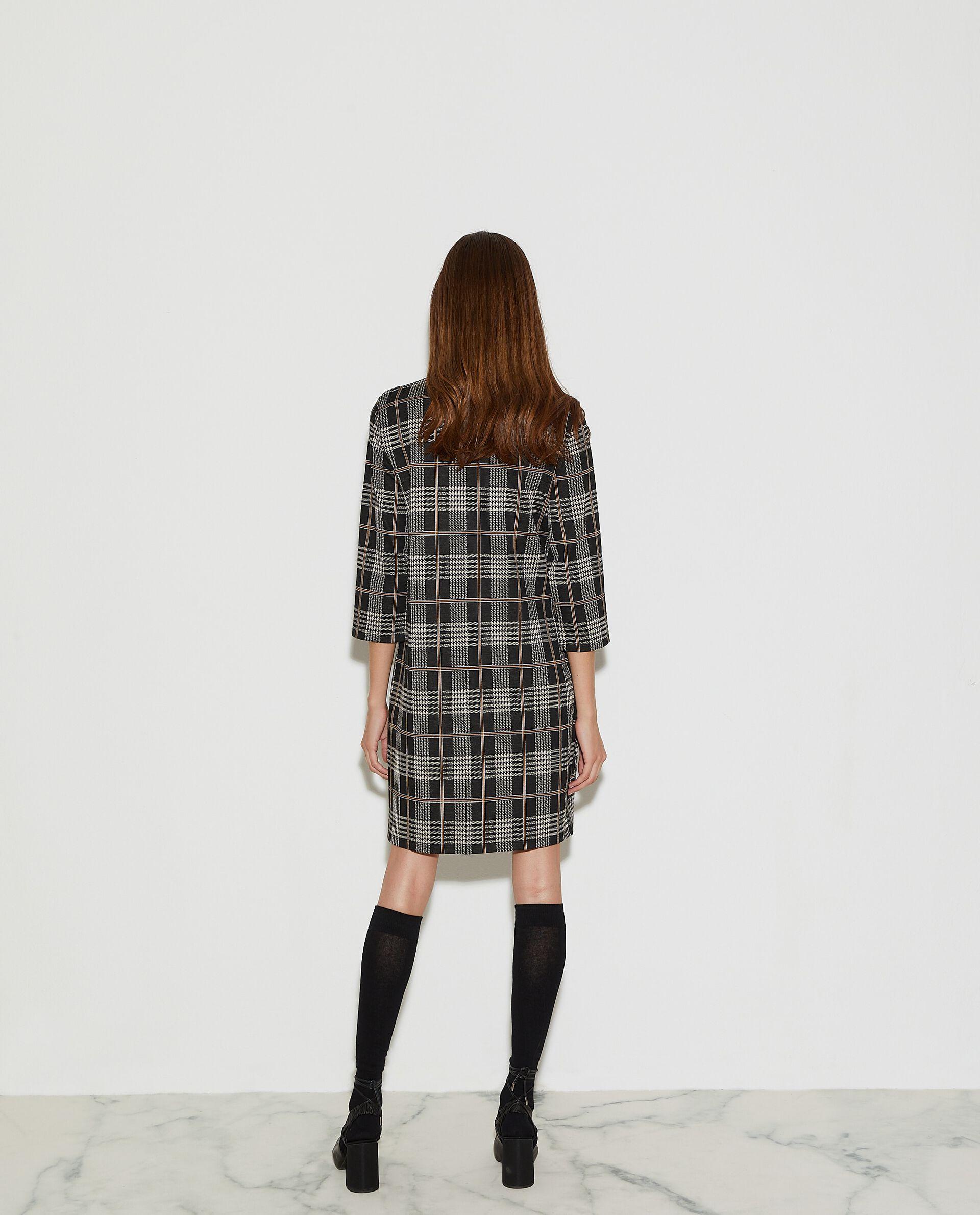 Vestito corto con fantasia a quadri donna