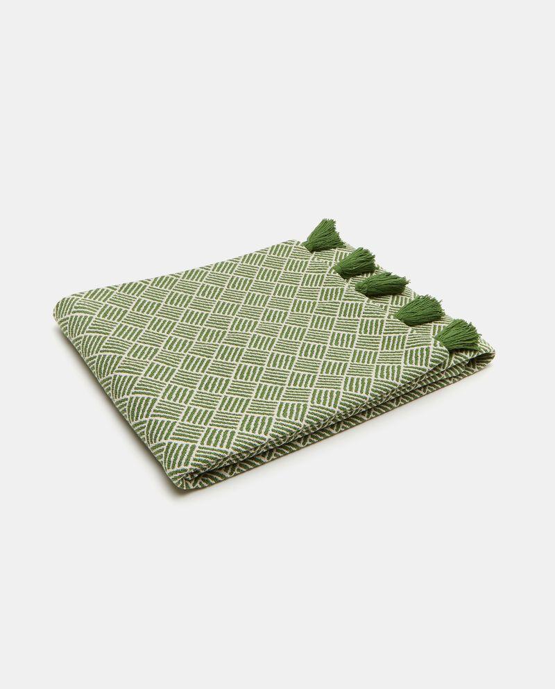 Telo arredo in cotone stretch con stampa rombi cover