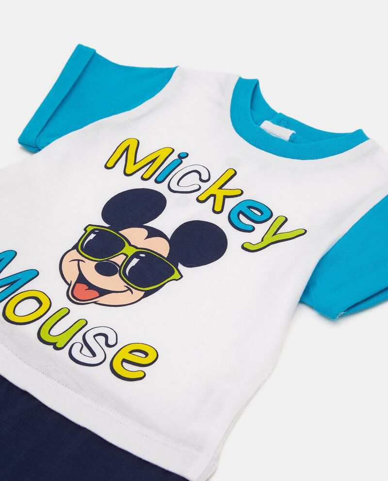 Tutina pigiama in puro cotone Mickey Mouse neonato