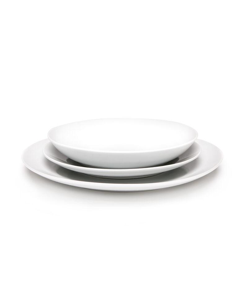 Set diciotto piatti tondi in porcellana