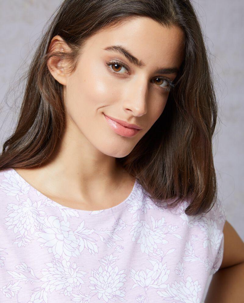 T-shirt girocollo fantasia floreale