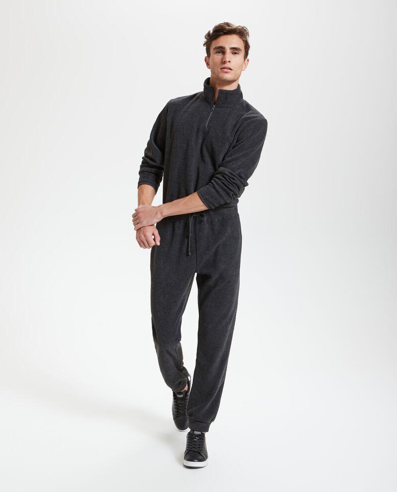 Pantaloni effetto mélange
