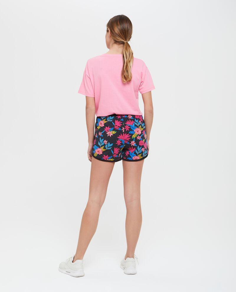 Shorts fitness donna con fantasia floreale