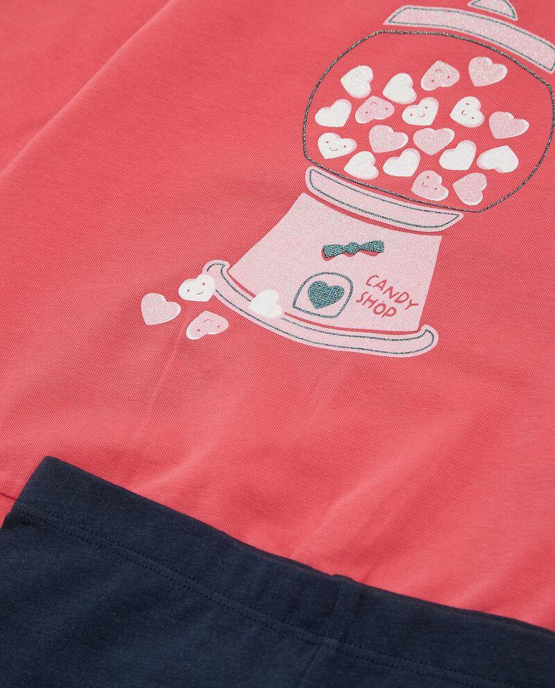 Set con maglia e leggings cotone biologico neonata single tile 1