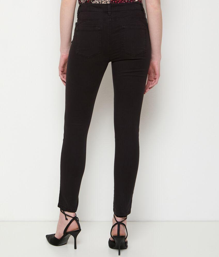 Pantaloni tinta unita in cotone stretch donna double 2