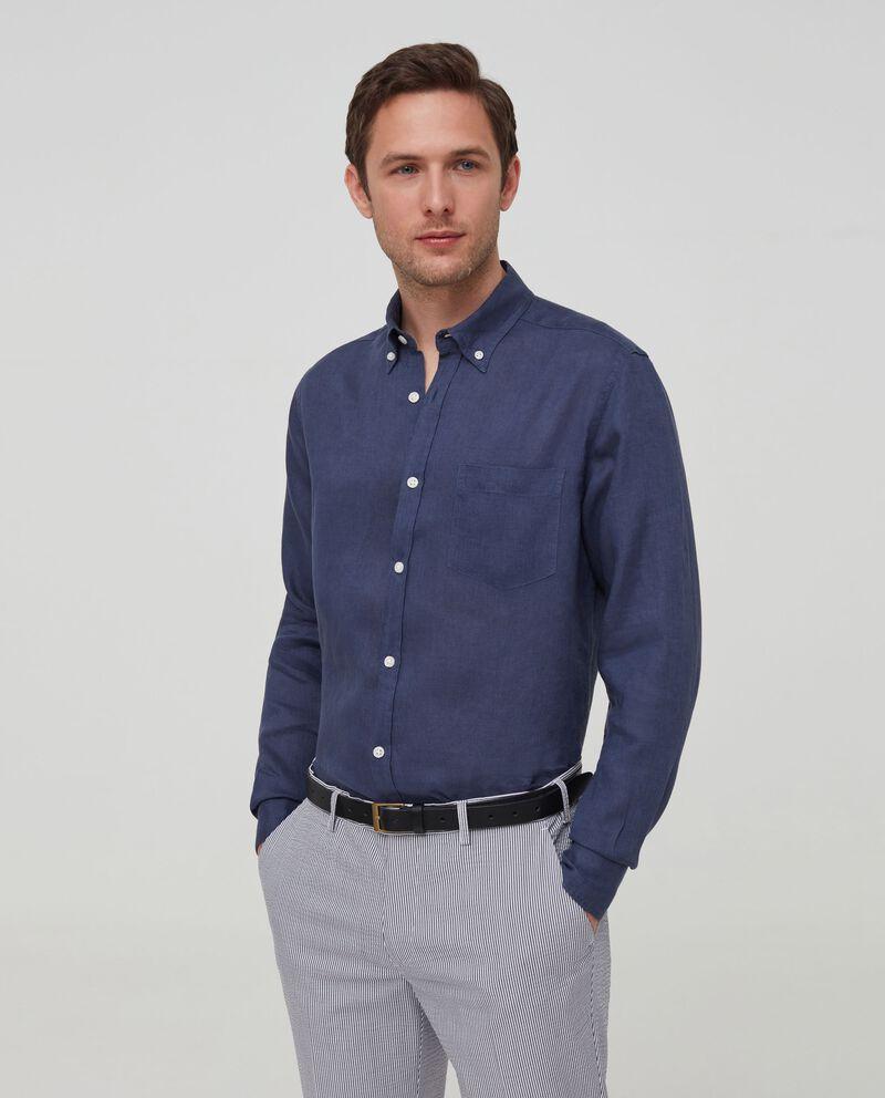 Camicia in puro lino button-down