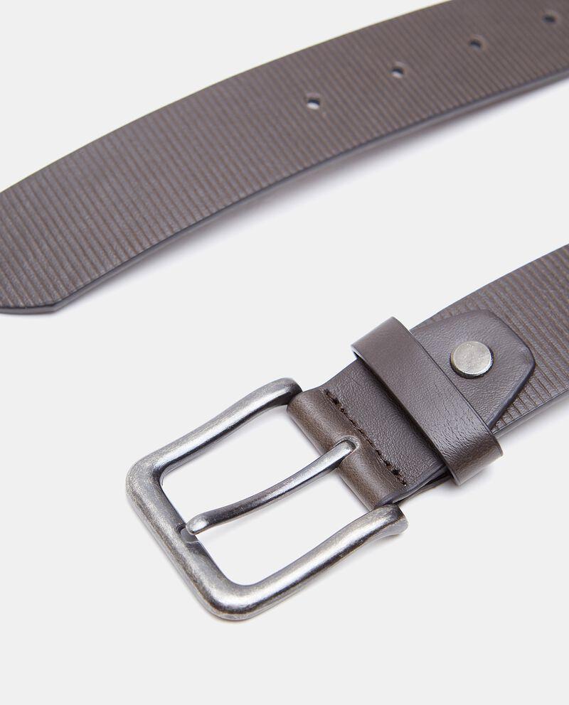 Cintura eco pelle righine uomo