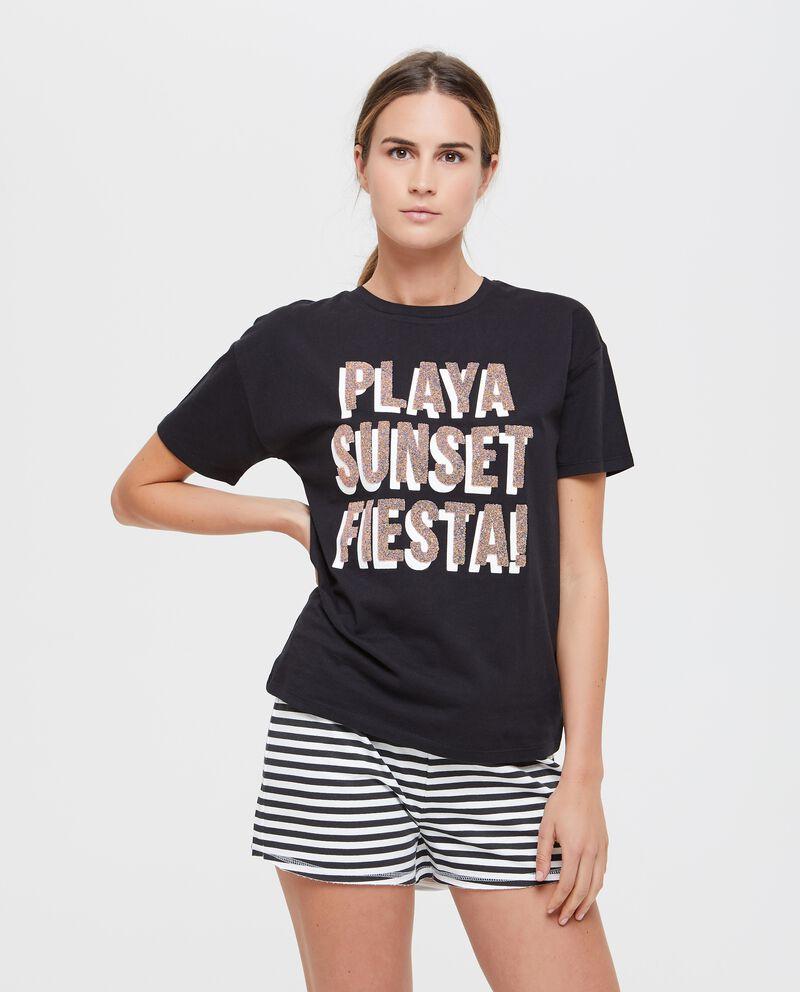 T-shirt donna fitness in puro cotone