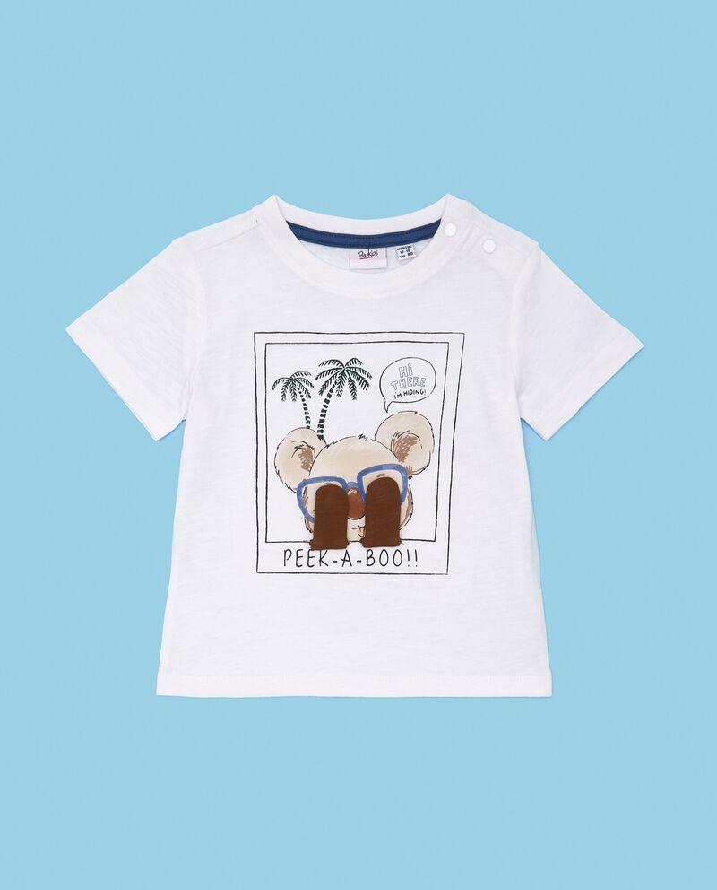 T-shirt in puro cotone stampata sul fronte neonato