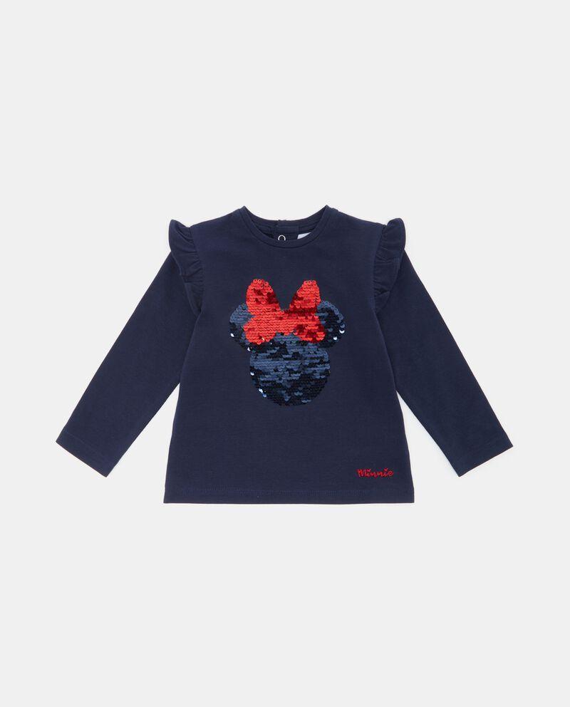T-shirt con paillettes Minnie neonata