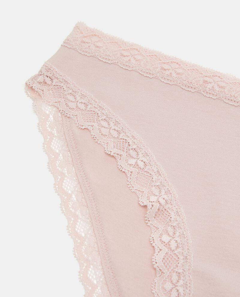 Slip in cotone elasticato donna