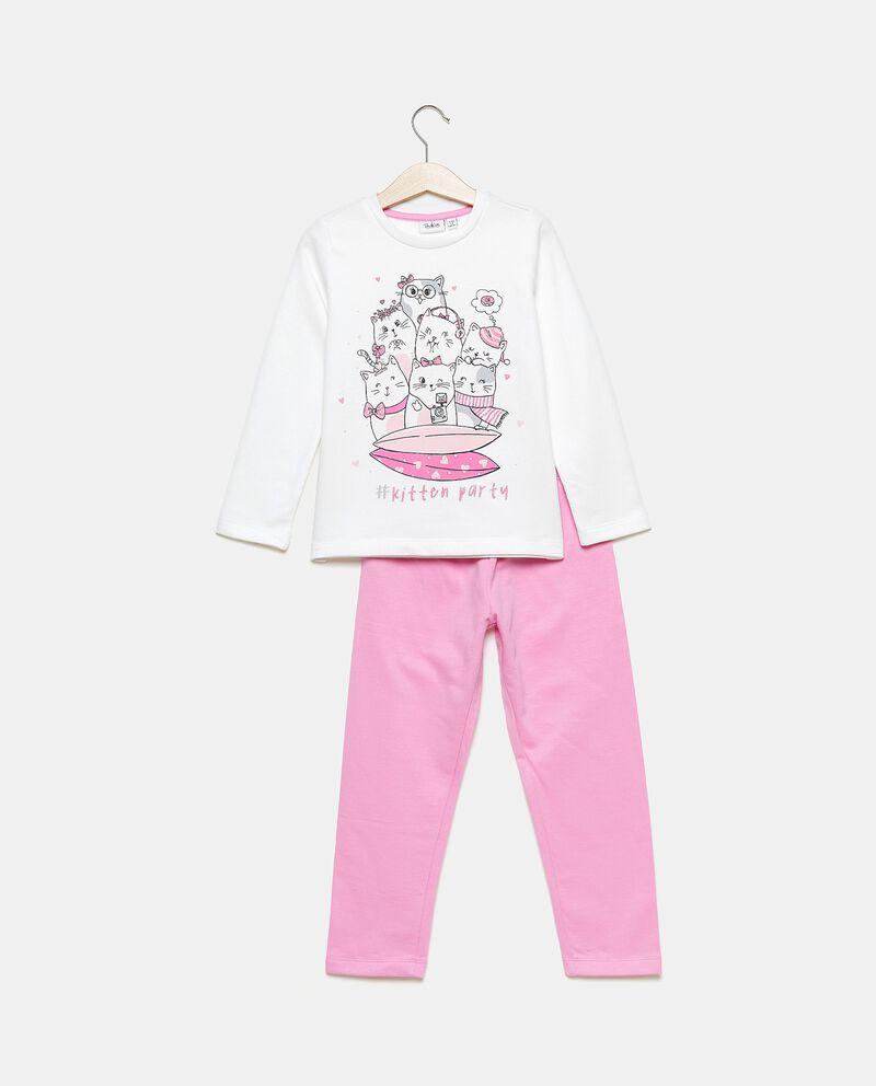 Set pigiama con pantaloni e maglia in puro cotone