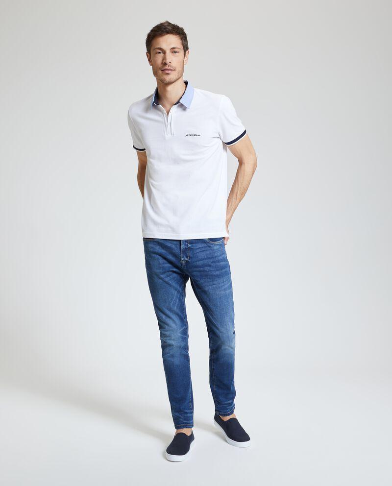Jeans slim con cinque tasche uomo