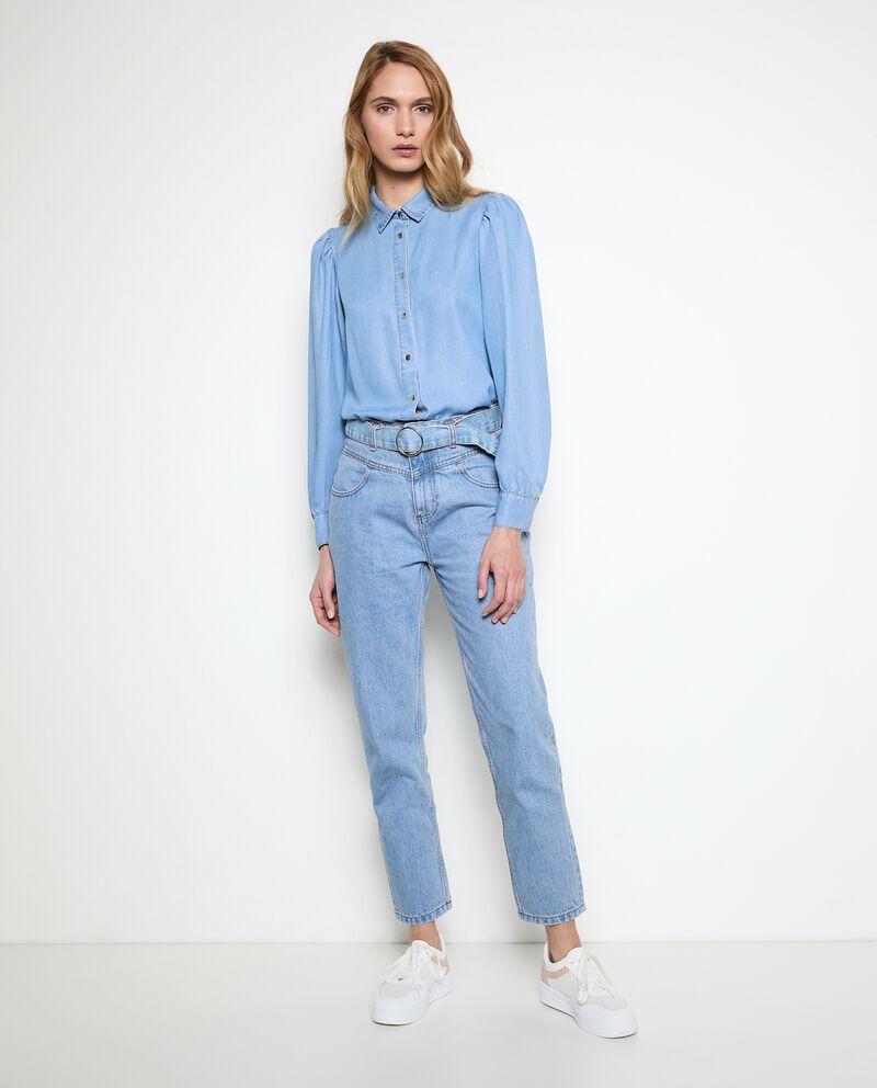 Jeans mom fit in puro cotone donna cover