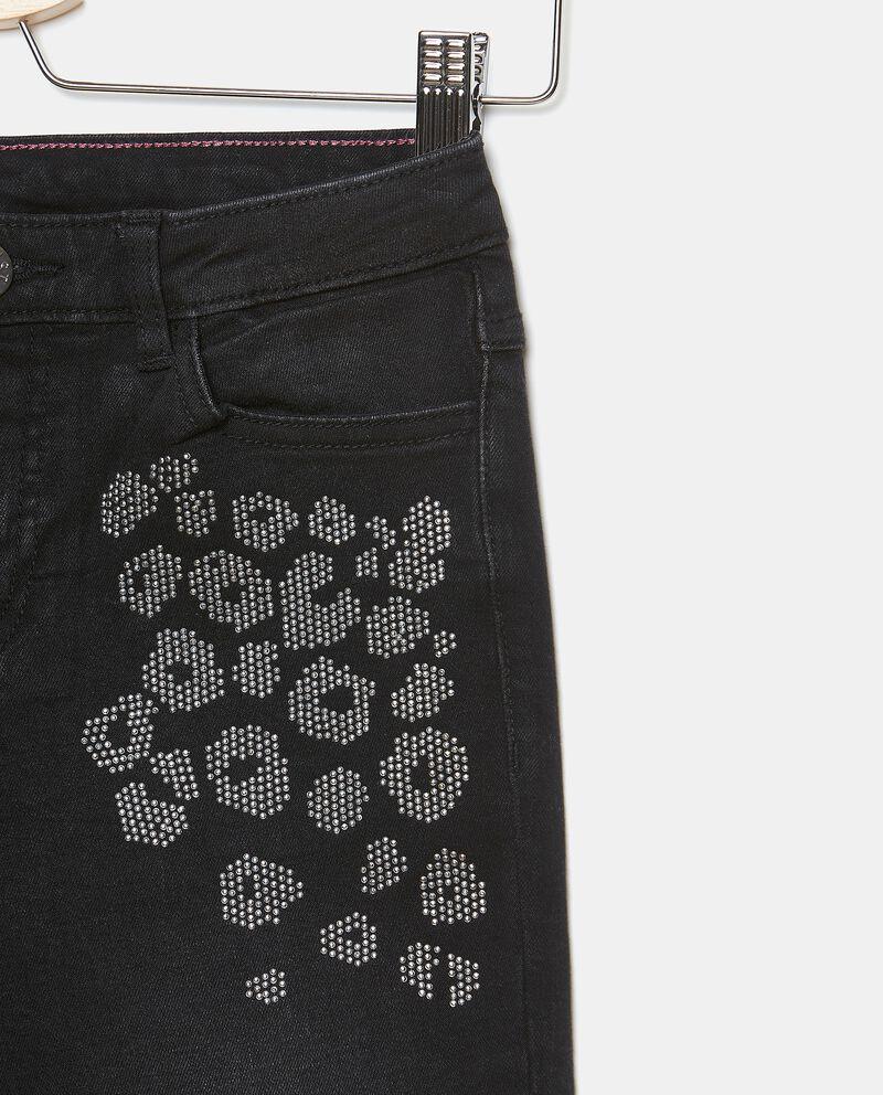 Jeans a zampa con strass ragazza