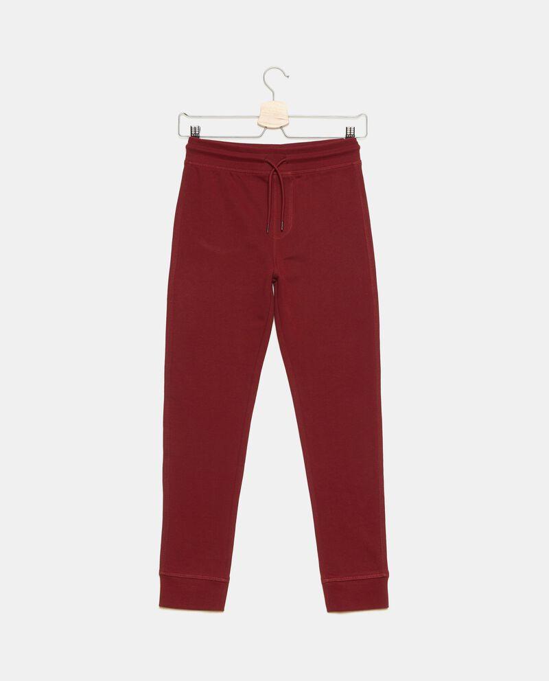 Pantaloni in puro cotone tinta unita ragazzo