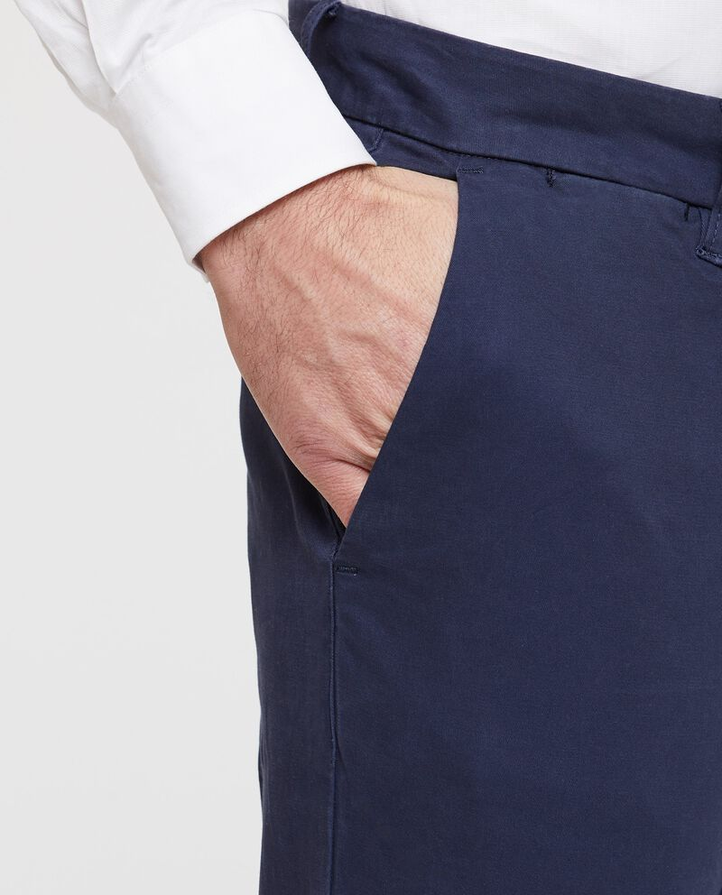 Pantaloni casual blu navy denim