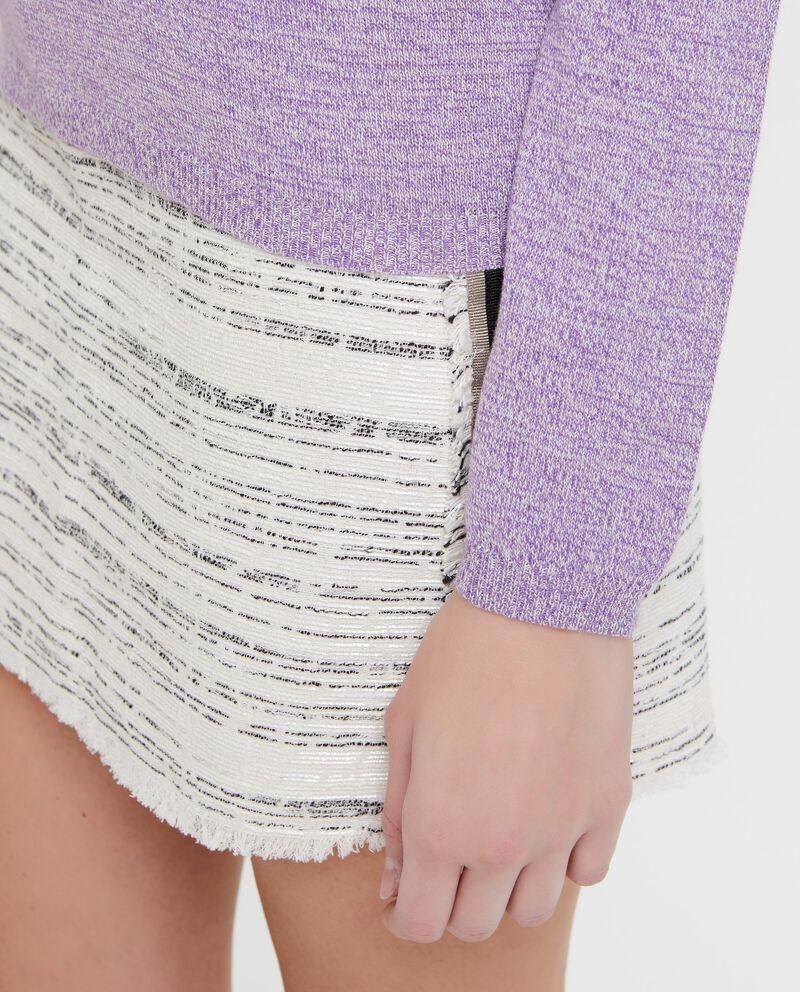 Pullover mélange con costina