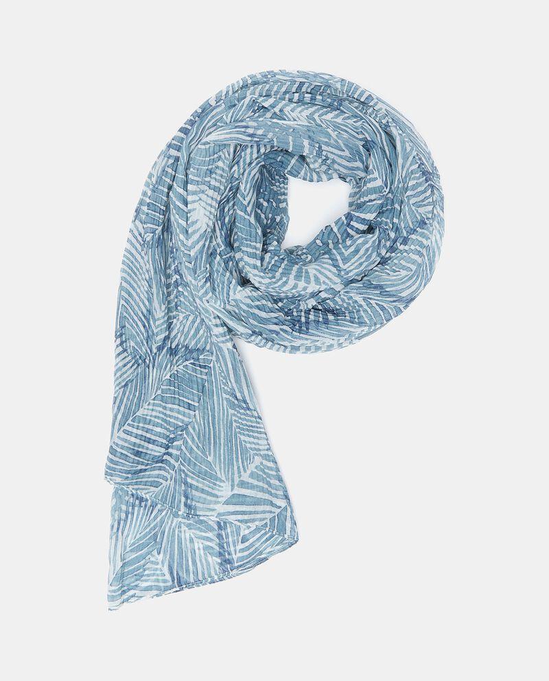 Sciarpa stampata plissé donna cover