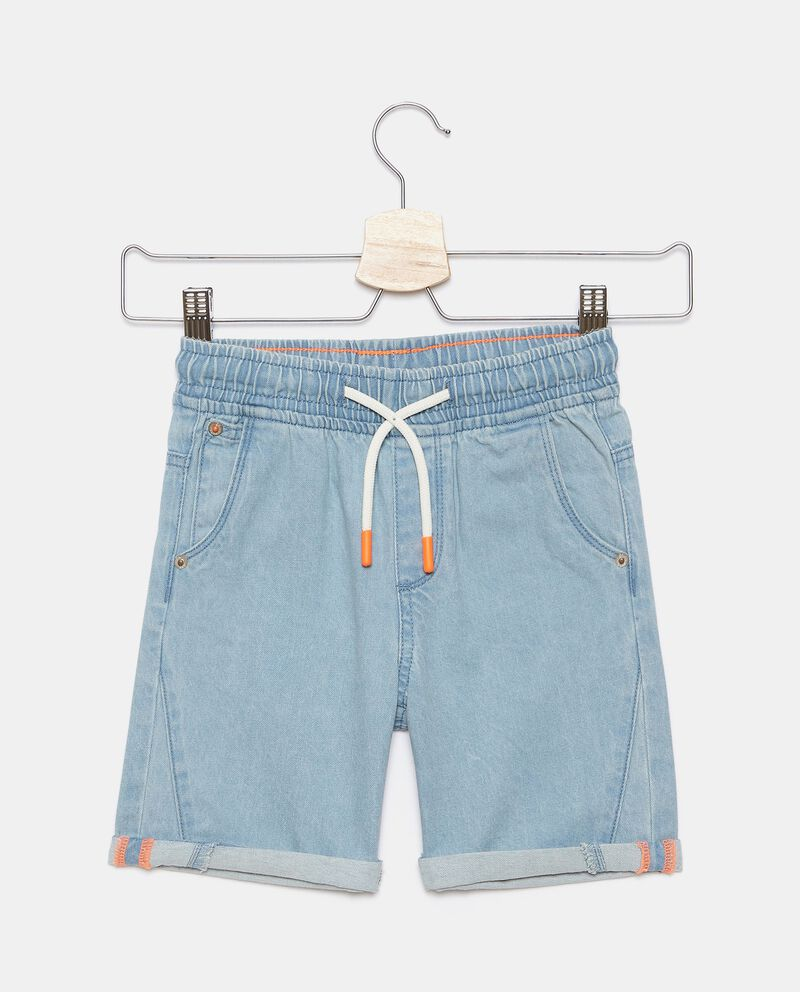 Shorts denim in cotone bambino