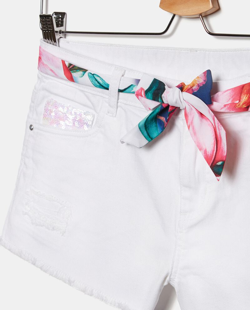 Shorts in jersey con cintura ragazza single tile 1