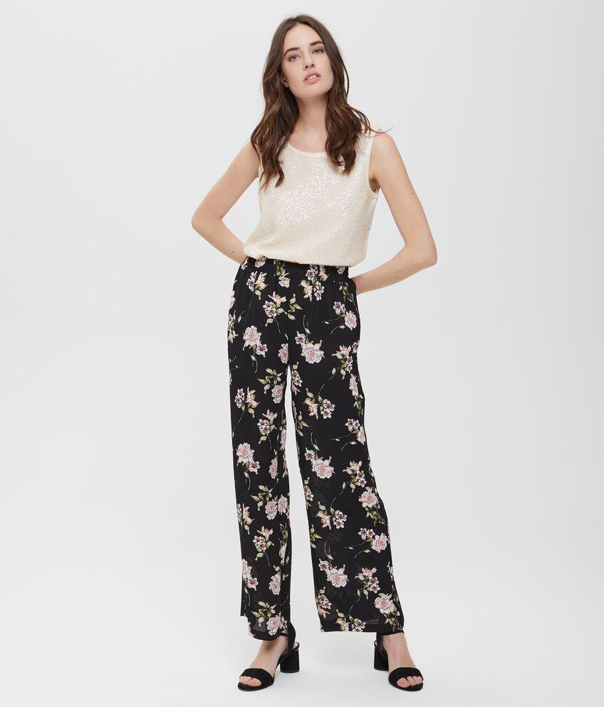 Pantaloni palazzo stampa floreale